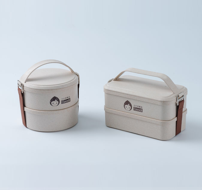 husk fiber 2 layer-portable lunch box